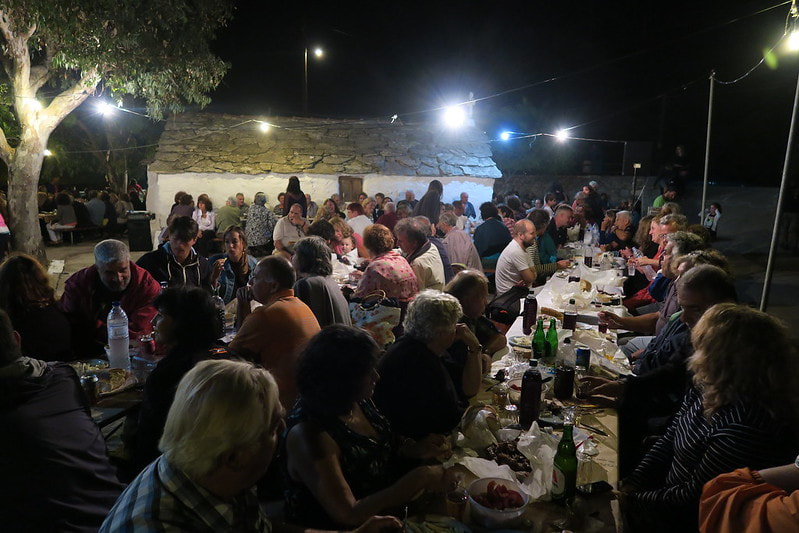 Greek village party